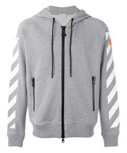 Moncler x Off-White | Logo Stripe Hoodie Size