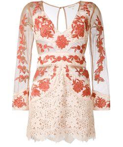 For Love & Lemons | Sheer Detail Fitted Dress