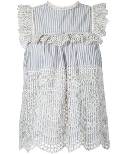 Zimmermann | Striped Broderie Anglaise Top Women