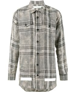 OFF-WHITE | Checked Shirt Xl Linen/Flax