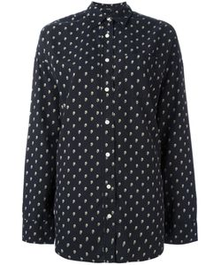 R13 | Allover Skull Print Shirt Small Silk