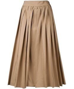Muveil | Pleated Cropped Trousers 38 Cotton/Polyester