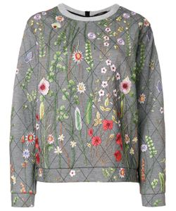 Odeeh   Embroidery Quilted Sweatshirt