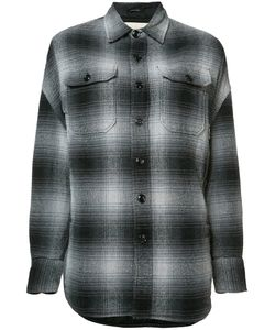 R13 | Dropped Shoulder Plaid Shirt Xs Viscose/Silk/Cotton