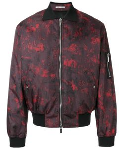 Dior Homme | Abstract Print Bomber Jacket Size 48 Cupro/Polyester/Polyamide/Polyurethane