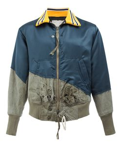 GREG LAUREN | Panelled Bomber Jacket 3 Cotton/Nylon/Polyester