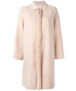 Agnona | Fur Trim Coat 38 Mink Fur/Cashmere/Cupro