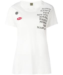 MR & MRS Italy | Embellished Print Patch T-Shirt Size 44