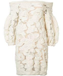 Sonia Rykiel | Guipure Puff Sleeve Mini Dress Size Small
