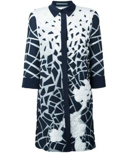 Alberta Ferretti | Printed Longline Shirt 42 Cotton/Silk/Polyamide/Other Fibers