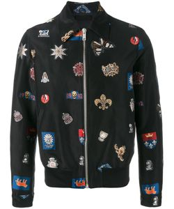 Alexander McQueen | Badge-Embroide Jacket 52 Polyester/Cotton/Silk/Viscose