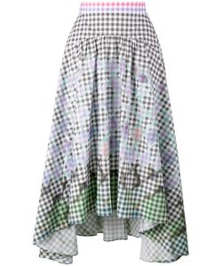 Peter Pilotto | Diamond Print Gingham Skirt 12 Cotton/Spandex/Elastane