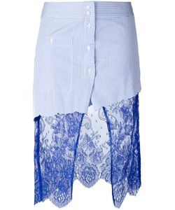Filles A Papa | Scully Lace Panel Asymmetric Striped Skirt