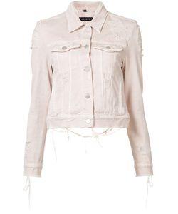 J Brand | Distressed Harlow Denim Jacket Xs Cotton