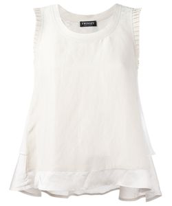 Twin-set | Frilled Sleeve Vest Top 38 Viscose/Acetate/Linen/Flax