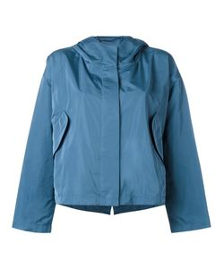 Jil Sander | Hooded Rain Jacket 36 Silk/Polyester