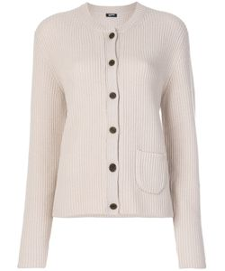 Jil Sander Navy | Ribbed Round Neck Cardigan Women