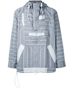 Sacai | Stripe Panel Hooded Jacket