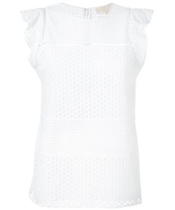 Michael Michael Kors | Eyelet Embroidered Top Size Xxs