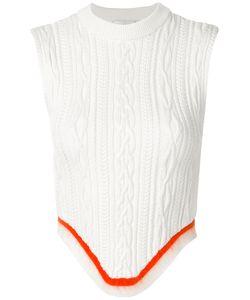 ESTEBAN CORTAZAR | Open Back Corset Knitted Top