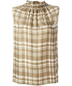 Joseph | Checked Sleeveless Top 42 Silk