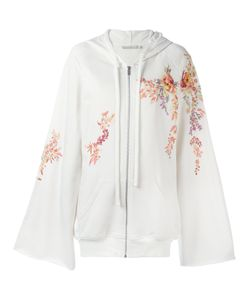 Amen   Embroidered Flowers Zipped Hoodie