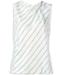 Giorgio Armani | Striped Sleeveless Top 50 Viscose/Silk