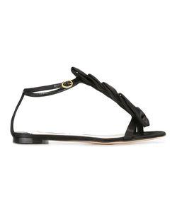 Olgana | La Delicata Flat Sandals 37 Satin/Leather