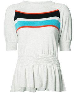 Thomas Wylde | Audrey Top Medium Silk/Cotton/Viscose/Spandex/Elastane