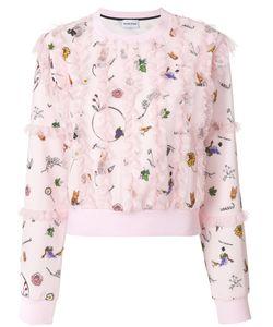 Au Jour Le Jour | Plumetis Lace Trim Sweatshirt Women