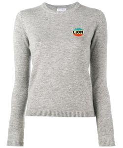Bella Freud | Lion Intarsia Top Womens Size Xs Wool/Cashmere