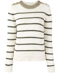 Vanessa Bruno | Striped Jumper Medium Cotton/Linen/Flax/Viscose/Polyester