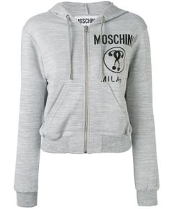 Moschino | Cropped Logo Hooded Top