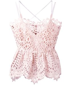 Perseverance London | Lace Peplum Camisole Top 10 Polyester