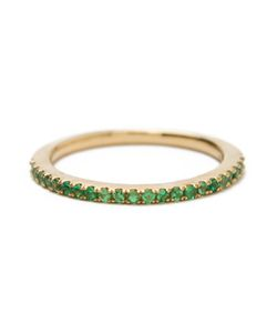 KHAI KHAI | Tsavorite Stack Band Ring Women