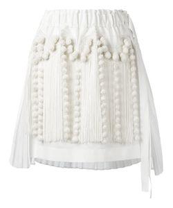 No21 | Fringed Asymmetric Skirt 42 Cotton/Polyester/Viscose
