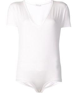 Alix | V-Neck Short Sleeved Bodysuit Small Spandex/Elastane/Modal