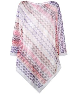 Missoni | Chevron-Knit Poncho