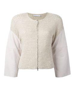 Fabiana Filippi   Suede Sleeve Zipped Top Size 42