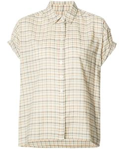 THE GREAT | Plaid Shortsleeved Shirt 0 Cotton