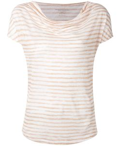 MAJESTIC FILATURES   Cowl Neck Stripe T-Shirt Size Iii