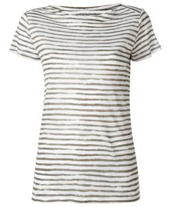 MAJESTIC FILATURES | Striped Shortsleeved T-Shirt I Linen/Flax