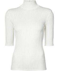 CHRISTIAN SIRIANO | Short-Sleeve Polo Neck Top