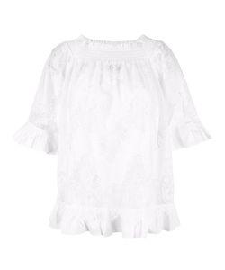 Twin-set   Gathe Neck Blouse 44 Polyamide/Cotton/Polyester