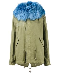MR & MRS Italy | Unlined Parka Jacket With Contrasting Raccoon