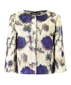Alberta Ferretti | Roses Print Collarless Jacket