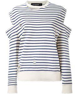 Filles A Papa | Distressed Cold-Shoulder Sweatshirt Size 2