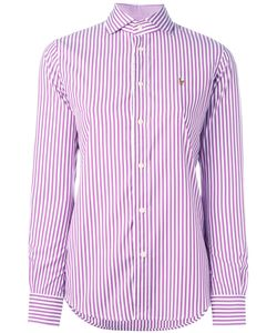 Polo Ralph Lauren | Striped Logo Shirt 10 Cotton/Nylon/Spandex/Elastane