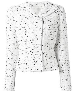 Giambattista Valli | Zipped Tweed Jacket 44 Silk/Cotton/Nylon/Polyester