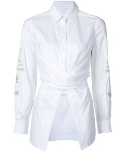Yigal Azrouel | Embroidered Sleeve Wrap Blouse